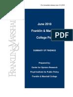 Franklin & Marshall Poll - June 2018