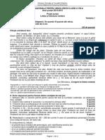 Subiecte Evaluarea Nationala Limba Romana 2015 Iunie Rezerva