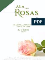 Cartaz Gala das Rosas 2018