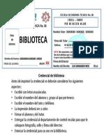 Credencial Biblioteca