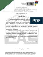 Comunicado - Inscrições Dos Cursos Basicos 2º Sem 2018