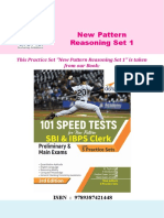 New Pattern Reasoning Set 1 With Sol