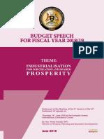 Uganda Budget Speech 2018