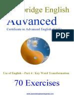 70 Cae Key Word Transformations.doc