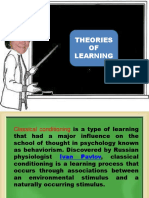 Ed 2 Theories of Learning