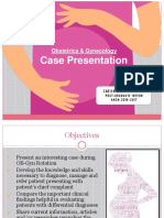 OB-Gyn Case Presentation - Bicornuate
