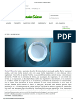 Postul Alimentar - Dr. Mihaela Olaru