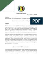 Carta Al Plenario Del Grupo de Lima