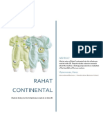 Consultancy report of Rahat Continental (clothing)