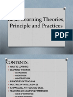 Basic Learning Theories, Principle and Practices