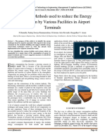 Sustainable Methods used to reduce the Energy Consumption by Various Facilities in Airport Terminals