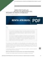 Cómo Se Deben Efectuar Las Anotaciones en Los Registros Del Régimen de Renta Atribuida_ _ Grupo Bdt