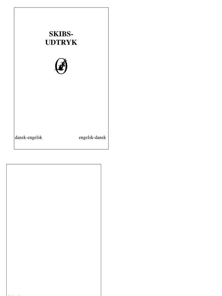 Skibsudtryk Dansk-Engelsk Engelsk-dansk Ordbog
