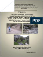 Informe Hidrologia Pampacolca