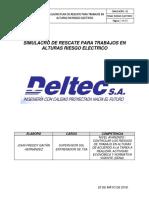 25.05.18 Simulacro Plan de Rescate Para Trabajos en Alturas en Riesgo Electrico