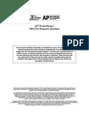 2002 FRQ pdf   Advanced Placement   Prices