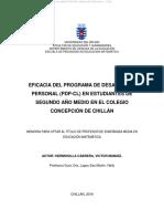 Tesis Para Fundamentacion Programa (Adole y Desa Personal)