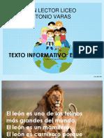plan lector informativo el león.ppt