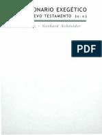 Diccionario Exegético Del Nuevo Testamento Volumen #1 - Gerhard Schneider y Horst Balz