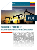 Sanciones y Bloqueo- Violaciones de la Soberanía y Agresión a Venezuela
