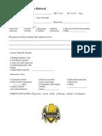 discipline referral form