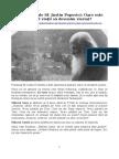 Sf. Justin Popovici - Oare este sensul vietii sa devenim viermi