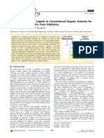 Comparison of Ionic Liquids to Conventional Organic Solvents for Extraction of Aromatics From Aliphatics