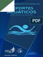 Manual Tecnico Natacion Odesur 2018