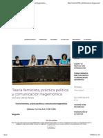 Teoría feminista, práctica política y comunicación hegemónica - Instituto 25M Democracia