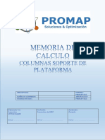 Memoria de Calculo de Columnas Soporte de Plataforma