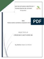 PRACTICA II ELECTROQUÍMICA Y REACCIONES REDOX