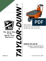 Taylor Dunn Sc1-00 Manual Parts parts