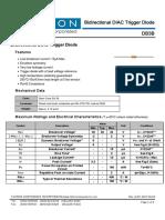 DIAC Diodo Bidirecional Serie DB3