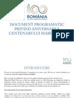 Document Programatic Privind Aniversarea Centenarului Marii Uniri(1)
