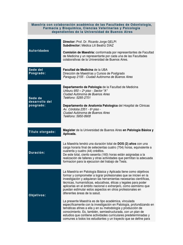 Maestría Con Colaboración Académica de Las Facultades Informacion y ...