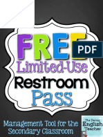 Free Limited Use Restroom Pass