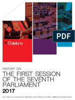 Report on the First Session of the Seventh Parliament