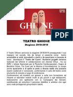 Teatro Ghione Stagione 2018-19