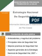 Principales Aspectos de La Estrategia Nacional de seguridad vial en Mexico