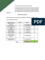 Precios del producto y Evaluación del mercado.docx