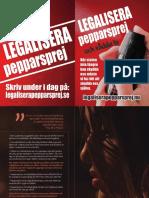 Kampanjblad Legalisera Pepparspray