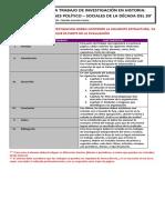 Estructura de Trabajos de Investigacion Para 3 Medio