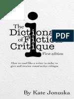 The Dictionary of Fiction Critique_ How to - Kate Jonuska
