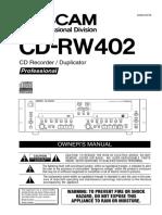 CD RW402 Manual