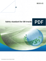 CSA Group Safety Standard for Lift Trucks - B335-15