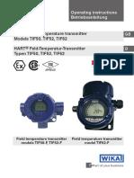 WIKA TIF52 Temperature Transmittter
