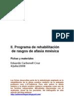 II Programa de Rehabilitación de  rasgos de Afasia mnésica