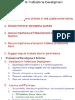 Lecture Ch 15 Professional Development