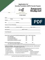 Iwff Application