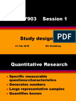 NAMA 7903 Session 1 2018 Studydesigns